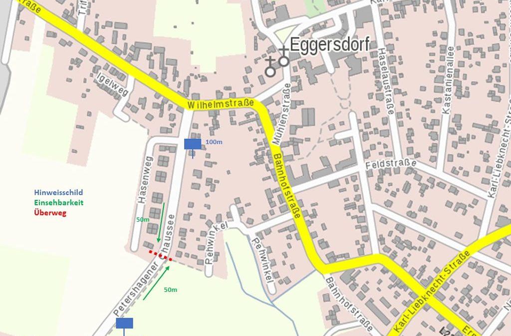 Sicherer Schulweg im Ortskern Eggersdorf